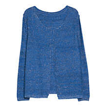 Buy Violeta by Mango Metallic Finish Cardigan, Bright Blue Online at johnlewis.com