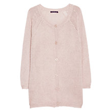 Buy Violeta by Mango Metallic Cardigan, Light Pastel Pink Online at johnlewis.com