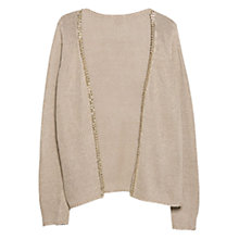 Buy Violeta by Mango Link Chain Cardigan, Light/Pastel Brown Online at johnlewis.com