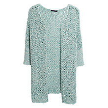 Buy Violeta by Mango Openwork Cardigan, Aqua Online at johnlewis.com