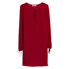Buy Mango Notched Dress, Currant Red Online at johnlewis.com