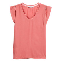 Buy Mango Openwork Trim T-Shirt Online at johnlewis.com