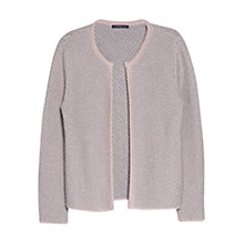 Buy Violeta by Mango Metallic Thread Cardigan, Light/Pastel Pink Online at johnlewis.com