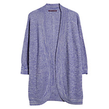 Buy Violeta by Mango Flecked Cocoon Cardigan, Medium Blue Online at johnlewis.com