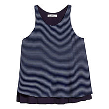 Buy Mango Striped Strap Top, Navy Online at johnlewis.com