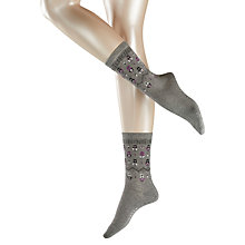 Buy Falke Matryoska Ankle Socks, Pack of 1, Grey Online at johnlewis.com