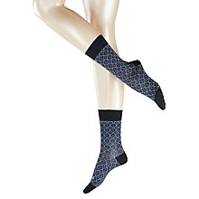 Buy Falke Tile Print Ankle Socks, Pack of 1, Blue/Navy Online at johnlewis.com