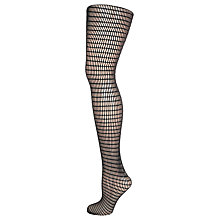 Buy Wolford Fashion Blair Lattice Tights, Black Online at johnlewis.com