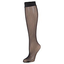 Buy Wolford Grid Fishnet Knee High Tights, Black Online at johnlewis.com