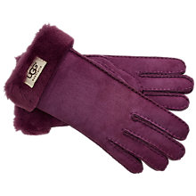 Buy UGG Classic Turn Cuff Aster Gloves, Purple Online at johnlewis.com