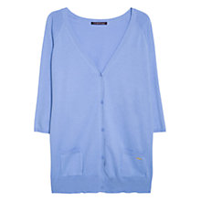 Buy Violeta by Mango Side Pocket Cardigan, Light Pastel Purple Online at johnlewis.com