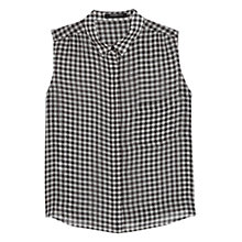 Buy Mango Sleeveless Blouse, Black Online at johnlewis.com
