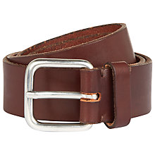 Buy Jaeger Casual Leather Belt, Brown Online at johnlewis.com