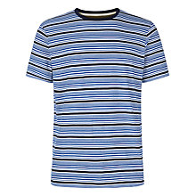 Buy Jaeger Fine Stripe Cotton T-Shirt Online at johnlewis.com