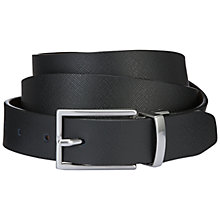 Buy Jaeger Reversible Leather Belt, Black/Brown Online at johnlewis.com