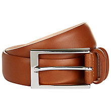 Buy Jaeger Matte Leather Formal Belt, Tan Online at johnlewis.com