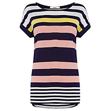 Buy Oasis Triple Stripe T-Shirt, Multi Online at johnlewis.com
