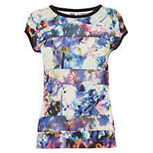 Buy Karen Millen Beautiful Floral Top, Multi Colour Online at johnlewis.com