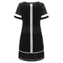 Buy Karen Millen Relaxed Broderie T-Shirt Dress, Black Online at johnlewis.com
