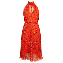 Buy Karen Millen Dot Print Collection Dress, Orange Online at johnlewis.com