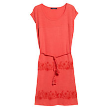 Buy Violeta by Mango Floral Embroidered Dress, Bright Red Online at johnlewis.com