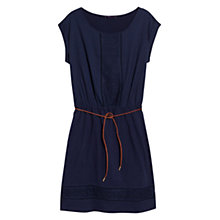 Buy Violeta by Mango Openwork Trim Cotton Dress, Midnight Navy Online at johnlewis.com