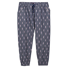 Buy Violeta by Mango Printed Cotton Harem Trousers, Grey Online at johnlewis.com
