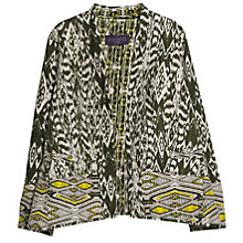 Buy Violeta by Mango Ethnic Print Jacket, Medium Green Online at johnlewis.com