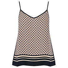 Buy Oasis Geometric Print Cami, Black/White Online at johnlewis.com