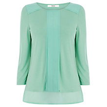 Buy Oasis Clean Edge Blouse, Teal Online at johnlewis.com
