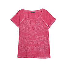 Buy Violeta by Mango Embroidered Tie Dye Cotton Tee, Valentine Online at johnlewis.com