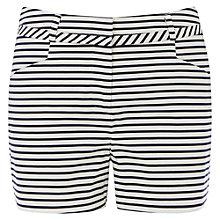 Buy Oasis Stripe Cotton Shorts, Multi Online at johnlewis.com