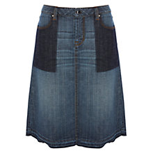 Buy Karen Millen Denim A-Line Skirt, Indigo Online at johnlewis.com