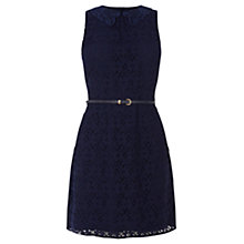 Buy Oasis Daisy Lace Collar Shift Dress, Navy Online at johnlewis.com