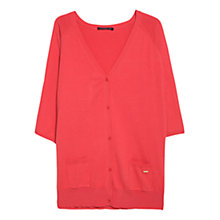 Buy Violeta by Mango Side Pocket Cardigan, Bright Red Online at johnlewis.com