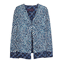Buy Violeta by Mango Paisley Print Cotton Jacket, Navy Online at johnlewis.com