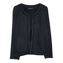 Buy Violeta by Mango Trim Cotton Jacket, Navy Online at johnlewis.com