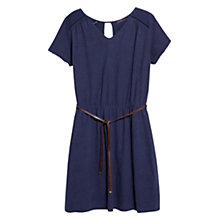 Buy Violeta by Mango Cotton Embroidered Dress, Navy Online at johnlewis.com