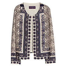 Buy Violeta by Mango Baroque Print Jacket, Beige/Navy Online at johnlewis.com