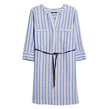 Buy Violeta by Mango Belted Striped Shirt Dress, Lavender Online at johnlewis.com