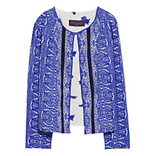 Buy Violeta by Mango Mosaic Bead Jacket, Iris Online at johnlewis.com
