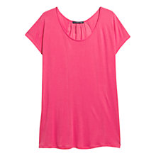 Buy Violeta by Mango Satin Panel T-Shirt Online at johnlewis.com