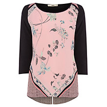 Buy Oasis Oriental Pop Front Top, Multi Online at johnlewis.com