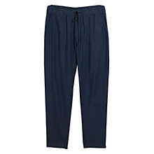 Buy Violeta by Mango Jacquard Denim Trousers, Navy Online at johnlewis.com