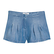 Buy Mango Denim Soft Shorts, Open Blue Online at johnlewis.com