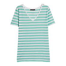 Buy Violeta by Mango Striped T-Shirt, Turquoise Online at johnlewis.com