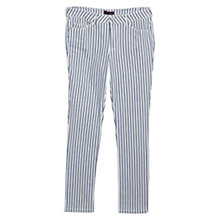 Buy Violeta by Mango Super Slim Striped Jeans, White Online at johnlewis.com