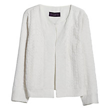 Buy Violeta by Mango Cotton Embroidered Jacket, Natural White Online at johnlewis.com