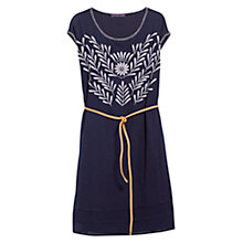 Buy Violeta by Mango Floral Embroidery Dress, Navy Online at johnlewis.com