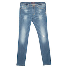 Buy Violeta by Mango Super Slim-Fit Pupi Jeans, Open Blue Online at johnlewis.com